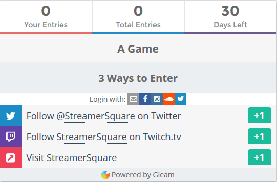 Giveaways - The Gift That Keeps on Giving - StreamerSquare