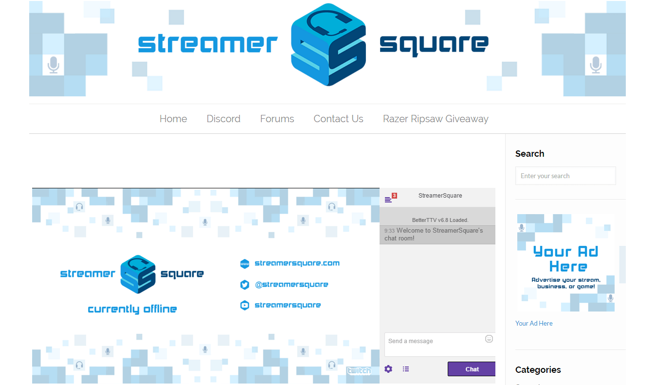 A StyleSheet For Embedding Twitch Streams - StreamerSquare