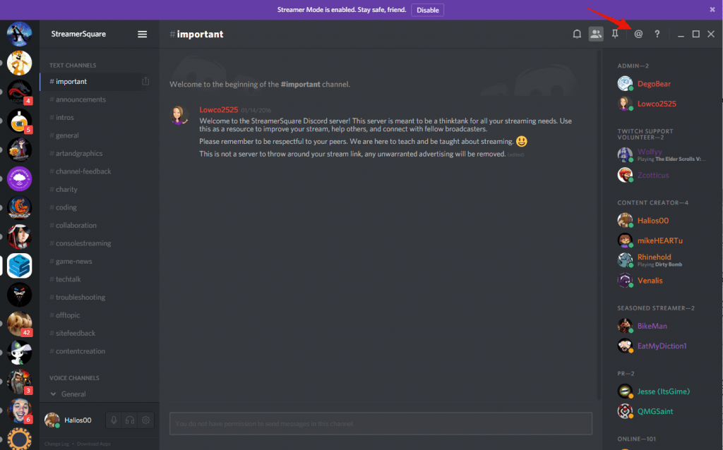 discord mentions