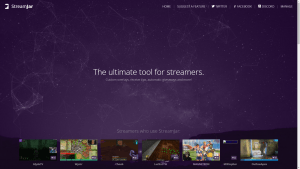 streamjar home page