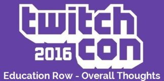 TwitchCon Education Row