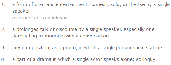 monologue definition