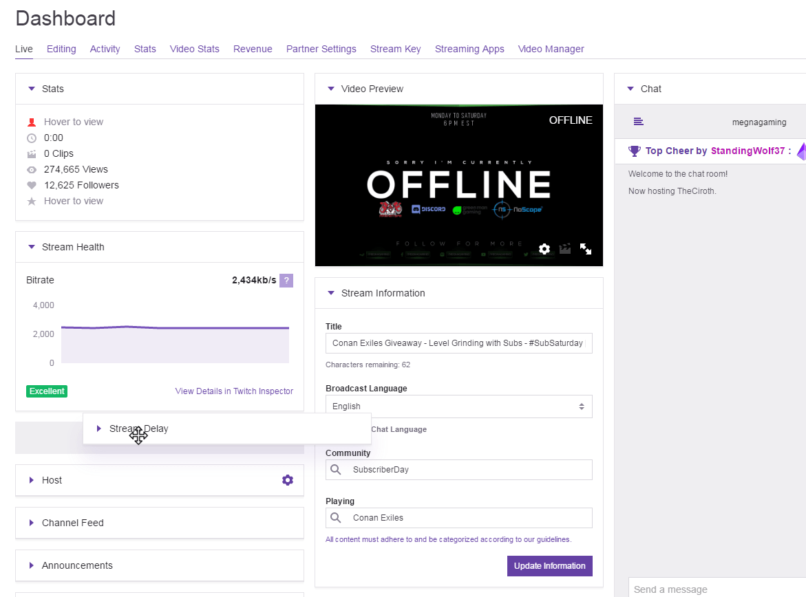 Twitch Dashboard