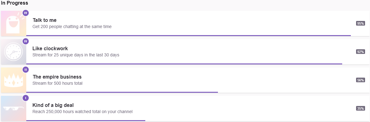 Twitch Achievements