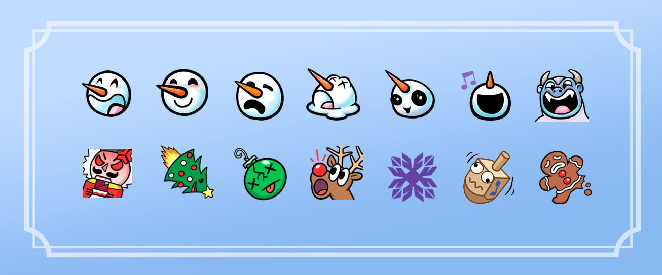 Twitch Holiday 2017 Emotes