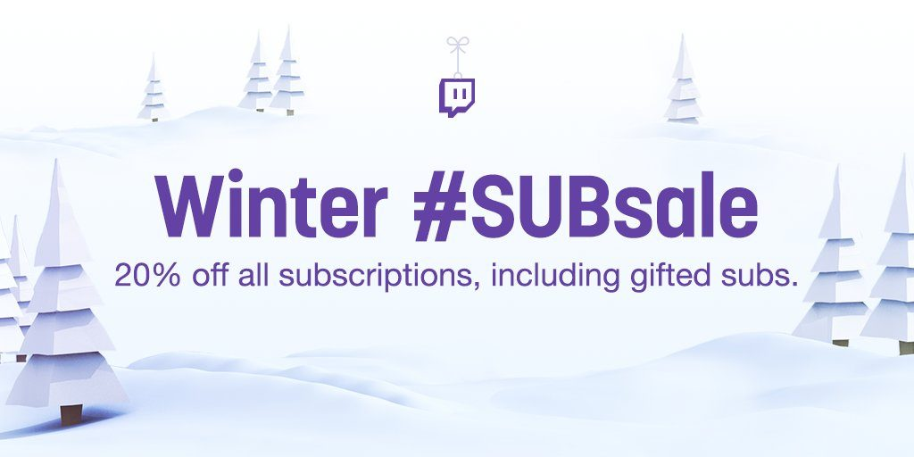 Twitch Winter Subsale 2017