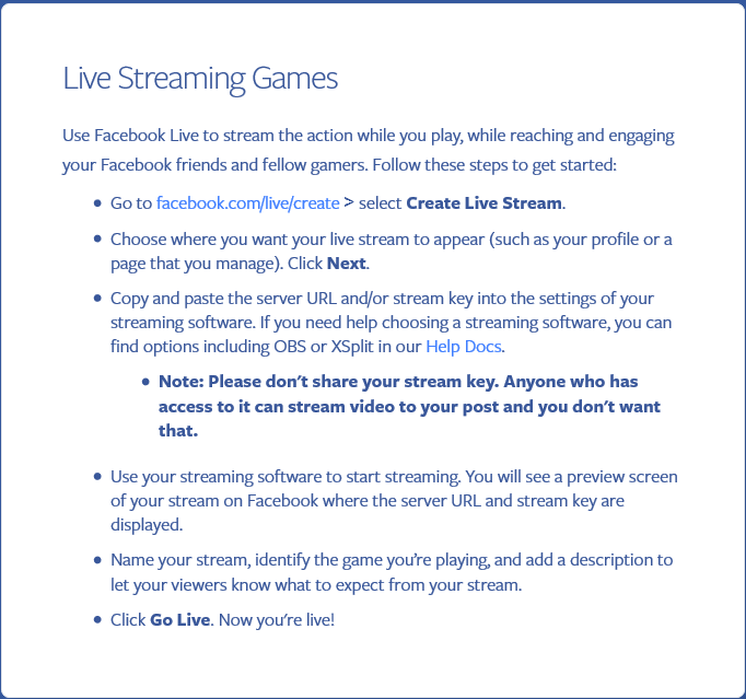 How to stream on Facebook