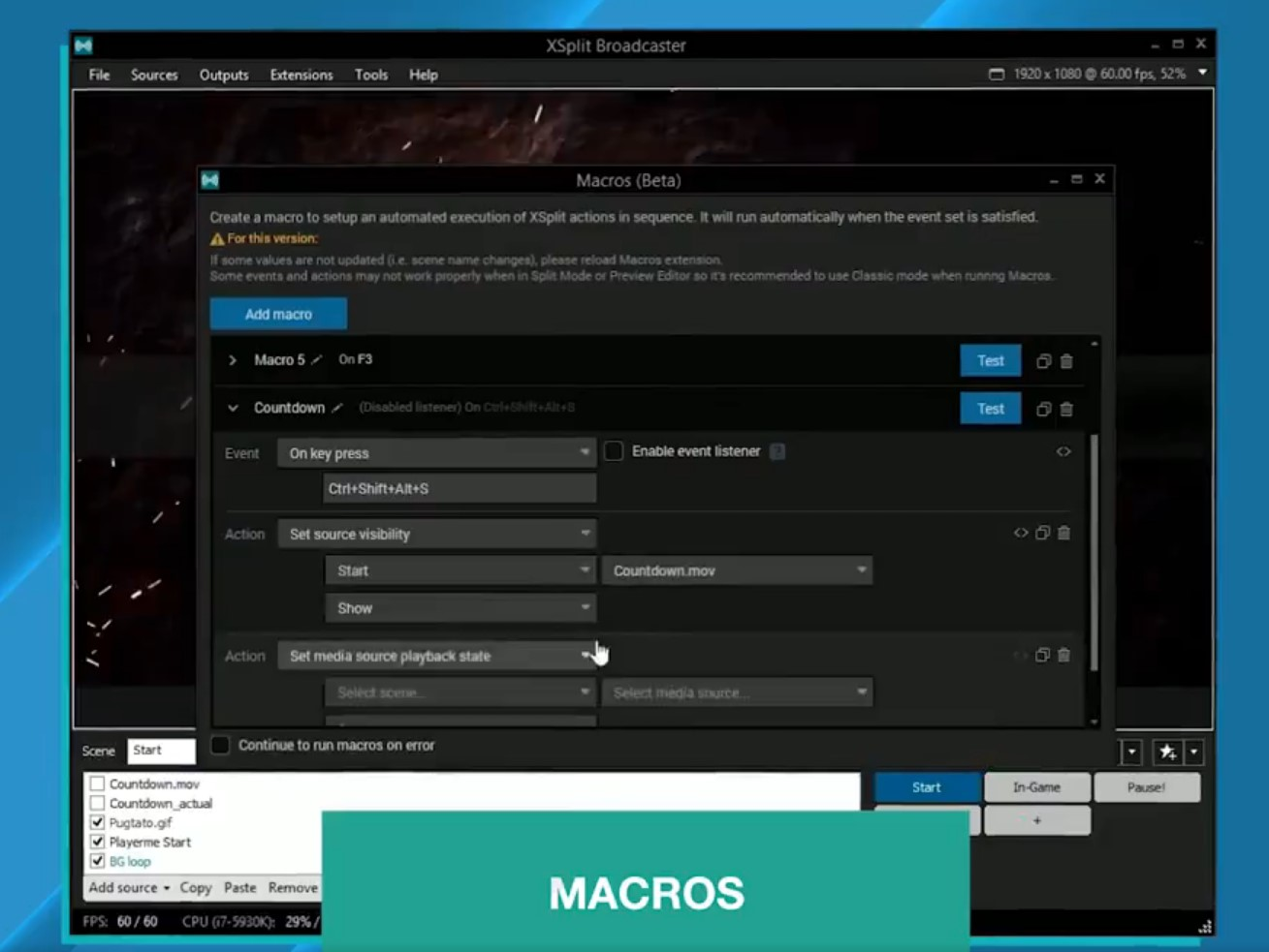 XSplit v3 3 Update Adds Macros, Multitrack Audio