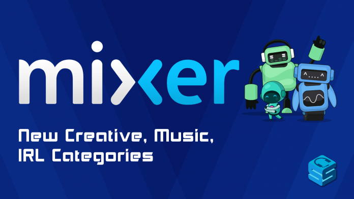 Mixer Creative Music IRL Categories