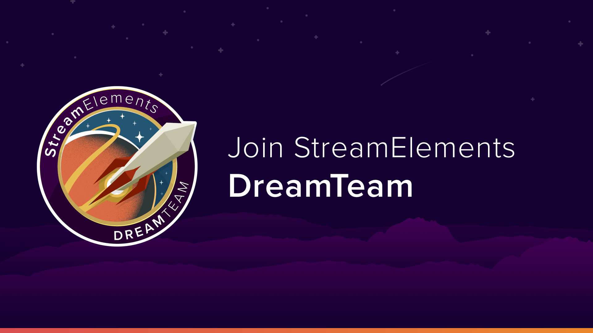 StreamElements Dream Team Apply