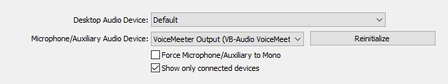OBS Voicemeeter Settings