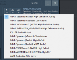 Voicemeeter Banana Hardware Output