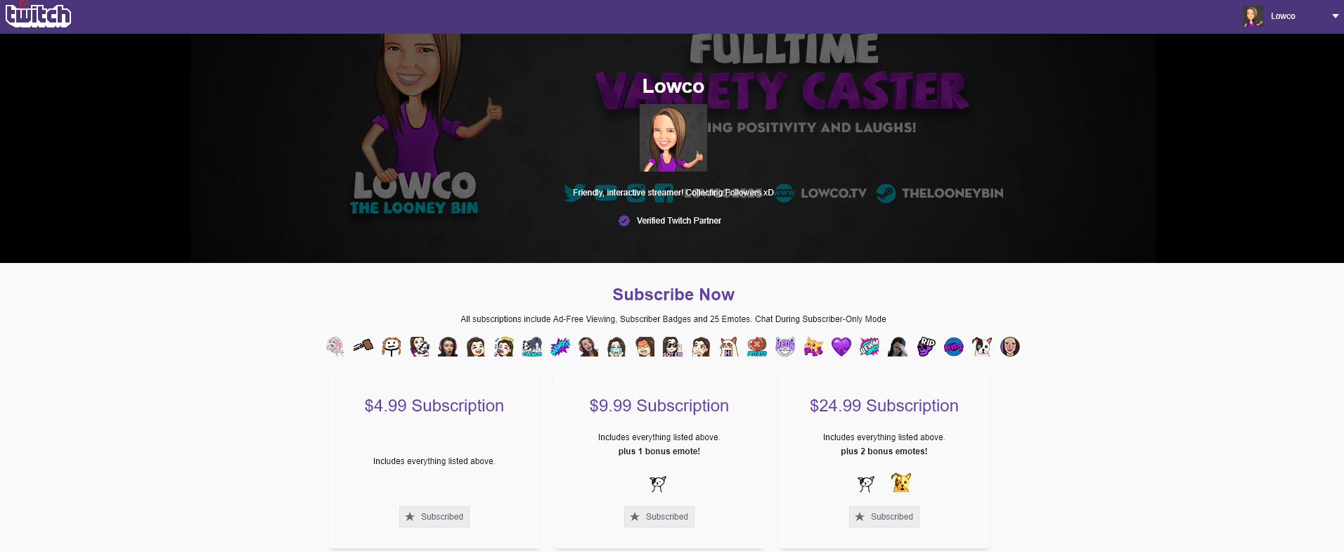 Twitch Sub Landing Page Example