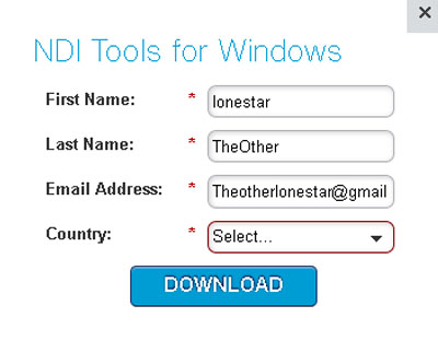 NDI Tools for Windows Download