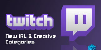 Twitch new IRL and Creative Categories