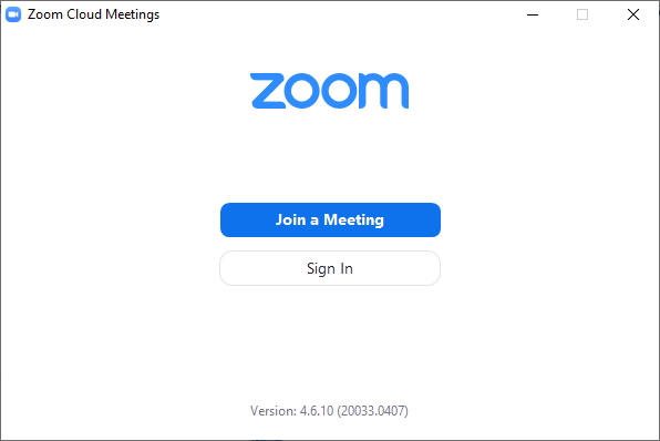 Launching the Zoom desktop client